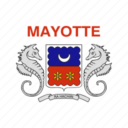 flag, mayotte icon