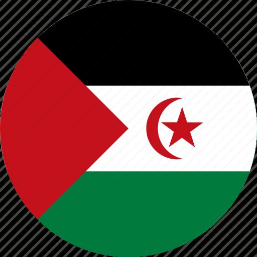 flag, sahara, western sahara icon