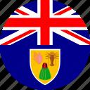 turks and caicos, flag icon