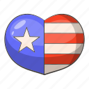 american, flag, heart, love