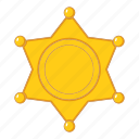 america, object, sheriff, star icon