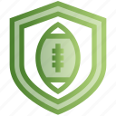 american football, protection, rugby, security, shield, sports icon