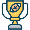 american football, cup, rugby, sports, trophy, winner icon