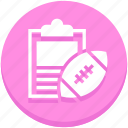 american football, clipboard, players name, rugby, sports