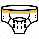 jockstrap, menswear, protect, sportswear, underclothes icon