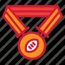 football, medal, american, winner