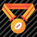 football, medal, sport, american, gold, winner