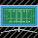 flat, tv, football, american, design, translation, sport icon