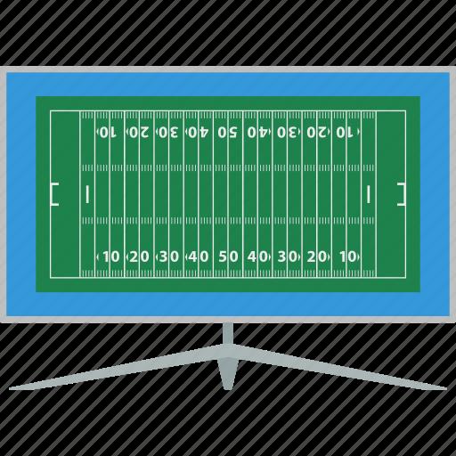 american, design, flat, football, sport, translation, tv icon