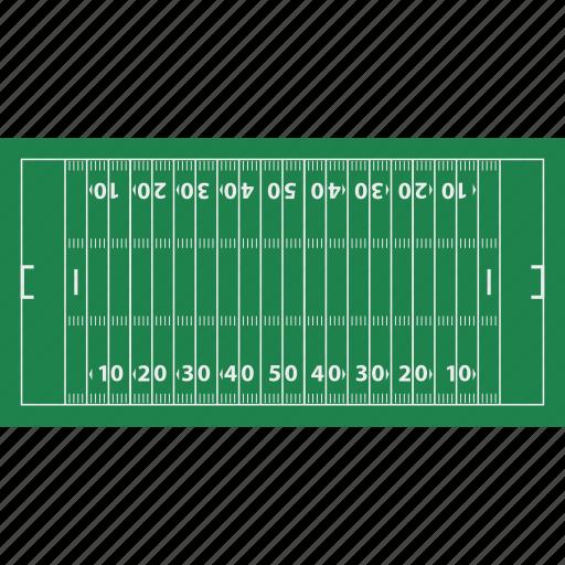 american, design, field, flat, football, mark, sport icon