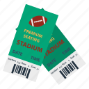 flat, football, american, design, stadium, ticket, sport
