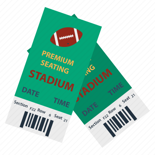 american, design, flat, football, sport, stadium, ticket icon
