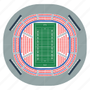 american, arena, design, flat, football, sport, stadium icon