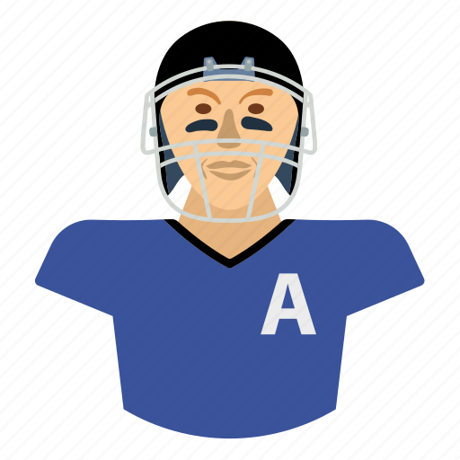 american, design, flat, football, player, sport, uniform icon