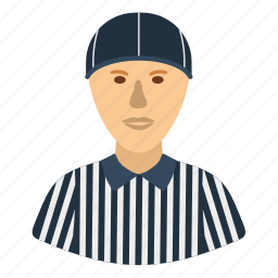 american, design, flat, football, head, referee, sport icon
