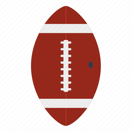 american, ball, design, flat, football, oval, sport icon