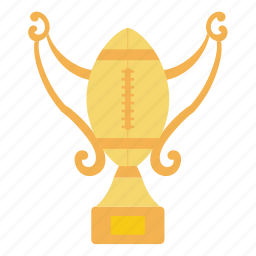 american, cup, design, flat, football, sport, trophy icon