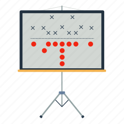 american, design, flat, football, game, plan, sport icon