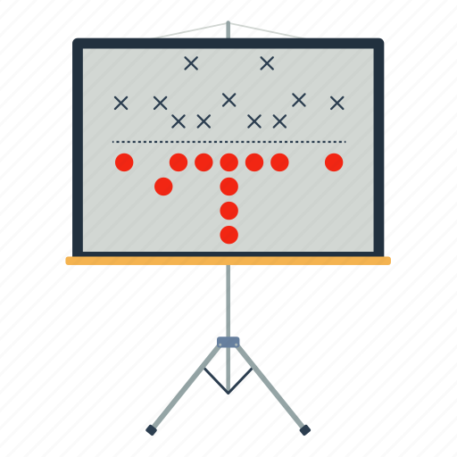 american, design, flat, football, game, plan, sport icon