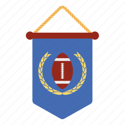 american, design, fan, flat, football, pennant, sport icon