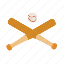 ball, baseball, bat, equipment, game, isometric, sport icon