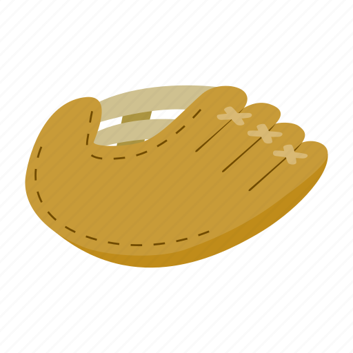 ball, baseball, equipment, glove, isometric, leather, sport icon