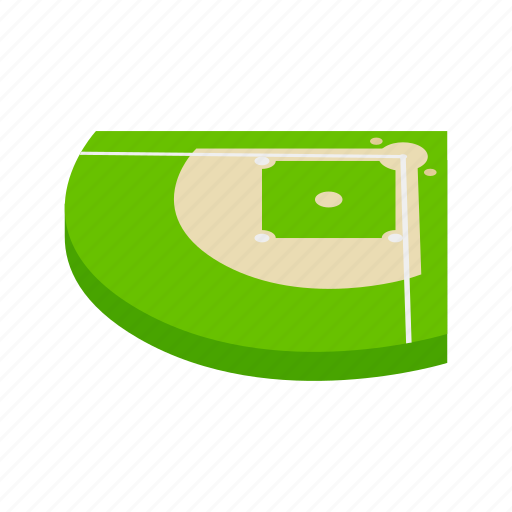 base, baseball, field, game, isometric, sport, stadium icon