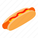 bread, bun, dog, food, hot, meat, sausage icon