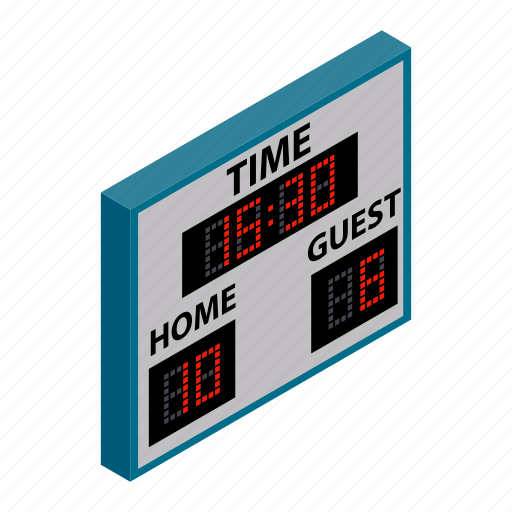 board, game, isometric, score, scoreboard, team, time icon