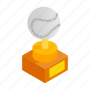 baseball, cup, game, isometric, prize, sport, winner