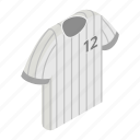 baseball, isometric, player, shirt, sport, textile, wear icon