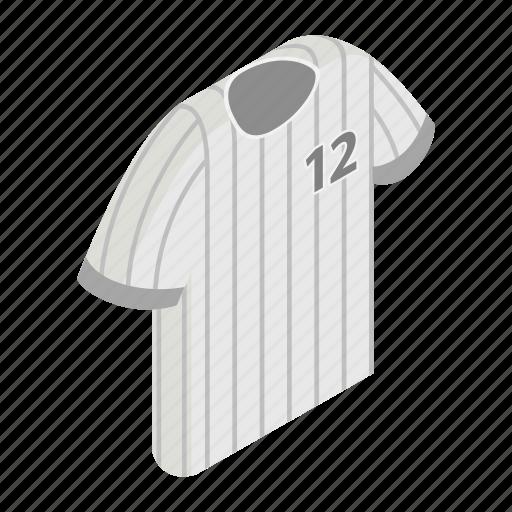 baseball, isometric, player, shirt, sport, textile, wear icon