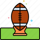american football, ball, kickoff, rugby icon