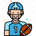 american football, player, scout icon