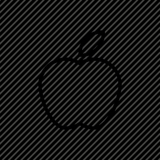 apple, fruit, leaf icon