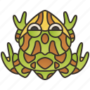 animal, argentine, frog, horned, pacman icon