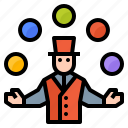 amusement, avatar, clown, juggling, park