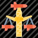 park, spiral, amusement, plaything, rocket icon
