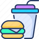 drinks, fast, food, hamburger, junk, unhealthy, unhygienic