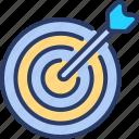 aim, archery, arrow, bullseye, goal, practice, target