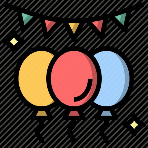 balloons, birthday, celebration, decoration, new, party, year icon