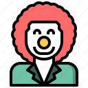 and, clown, costume, jobs, profession, professions, uniform icon