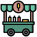 and, cart, dog, food, hot, restaurant, stand icon