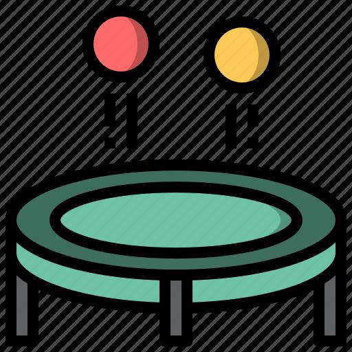amusement, fairground, jump, leisure, park, trampoline icon
