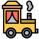 amusement, attraction, fair, fairground, park, train, transportation icon