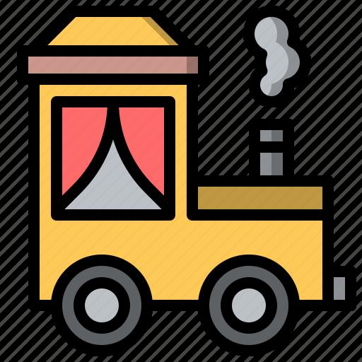 amusement, attraction, fair, fairground, park, train, transportation icon