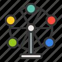 amusment, entertainment, ferris wheel, park, rides, theme park icon
