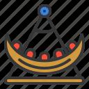 amusment, entertainment, park, rides, swing boat, theme park icon
