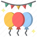 balloons, birthday, celebration, decoration, new, party, year icon