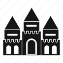 background, bouncy, castle, fun, house, tower, white icon